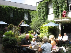 The garden at The Red Lion